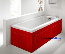 Shaker Style Red 2 Piece adjustable Bath Panels